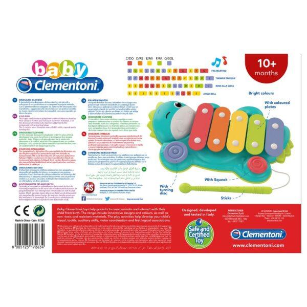 Baby Clementoni Μουσικό Ξυλόφωνο Δεινοσαυράκι 1000-17263 Αγόρι, Κορίτσι 12-24 μηνών, 6-12 μηνών  Baby Clementoni