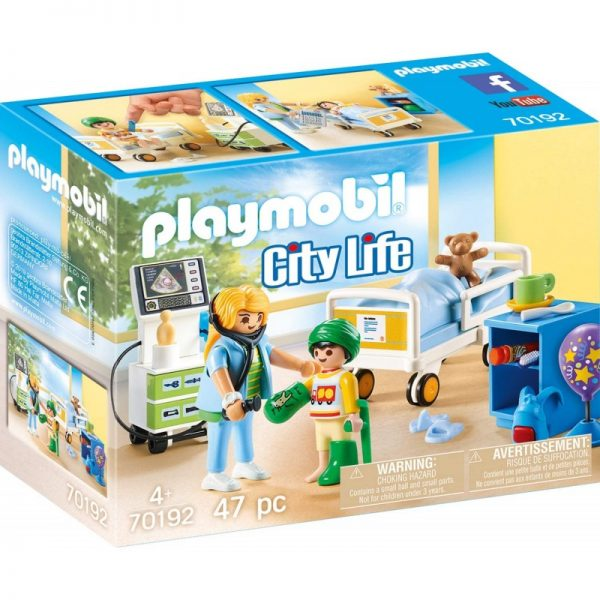 Playmobil City Life Παιδικό Δωμάτιο Νοσηλείας 70192 Playmobil, Playmobil City Life Αγόρι, Κορίτσι 4-5 ετών, 5-7 ετών
