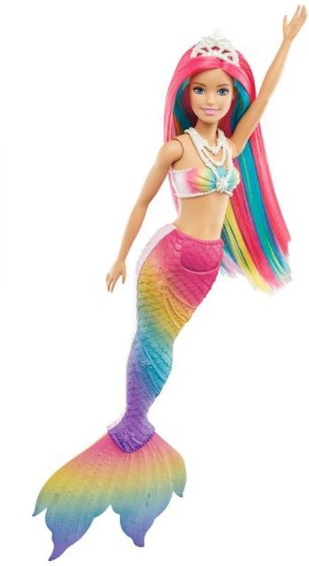 BARBIE Barbie Barbie Γοργόνα Μεταμόρφωση Ουράνιο Τόξο GTF89 Κορίτσι 3-4 ετών, 4-5 ετών