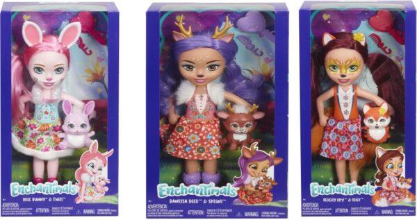 Enchantimals Enchantimals Enchantimals Μεγάλη Κούκλα-3 Σχέδια FRH51 Κορίτσι 3-4 ετών, 4-5 ετών