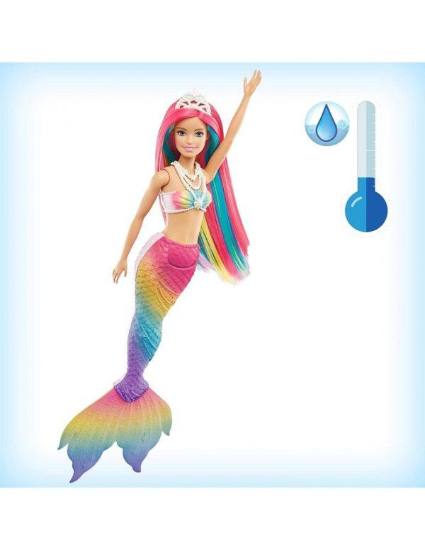 Barbie Γοργόνα Μεταμόρφωση Ουράνιο Τόξο GTF89 Κορίτσι 3-4 ετών, 4-5 ετών Barbie BARBIE