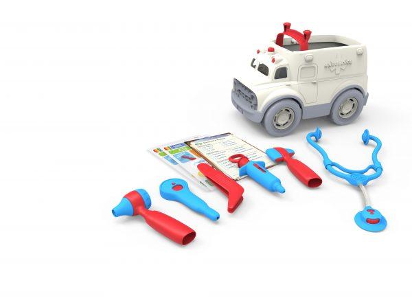 Green Toys Αγόρι, Κορίτσι 2-3 ετών, 3-4 ετών Green Toys: Ασθενοφόρο και Σετ Γιατρού AMDK-1313