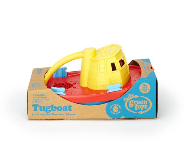 Green Toys: Ρυμουλκό Πλοίο Κίτρινο TUG01R-Y Green Toys Αγόρι 12-24 μηνών, 6-12 μηνών