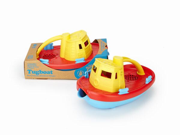 Green Toys: Ρυμουλκό Πλοίο Κίτρινο TUG01R-Y  Αγόρι 12-24 μηνών, 6-12 μηνών Green Toys