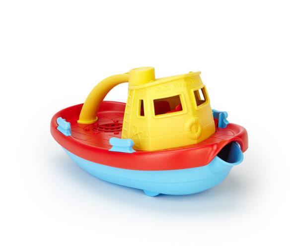 Green Toys Αγόρι 12-24 μηνών, 6-12 μηνών Green Toys: Ρυμουλκό Πλοίο Κίτρινο TUG01R-Y