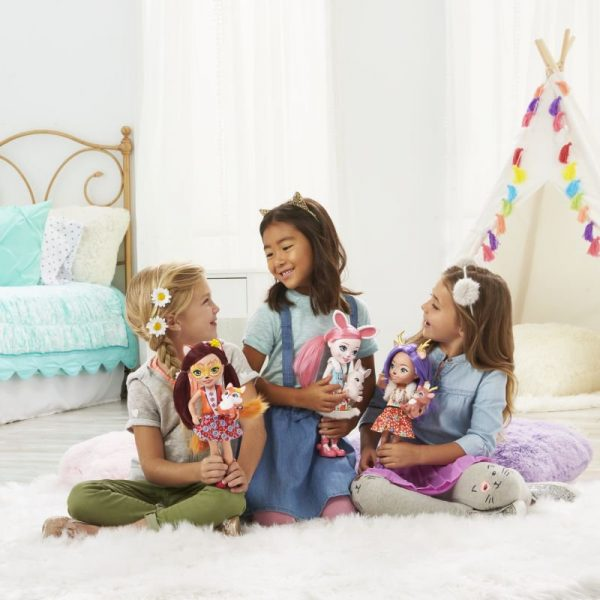 Enchantimals Μεγάλη Κούκλα-3 Σχέδια FRH51 Enchantimals Κορίτσι 3-4 ετών, 4-5 ετών Enchantimals