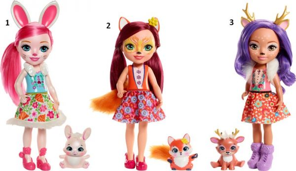Enchantimals Enchantimals Κορίτσι 3-4 ετών, 4-5 ετών Enchantimals Μεγάλη Κούκλα-3 Σχέδια FRH51