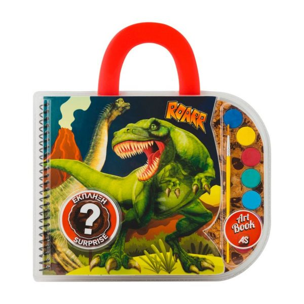 Art Greco  Art Greco Σετ Ζωγραφικής art book dinosaurs & monster trucks Σχέδια 1023-69002 Αγόρι 3-4 ετών, 4-5 ετών