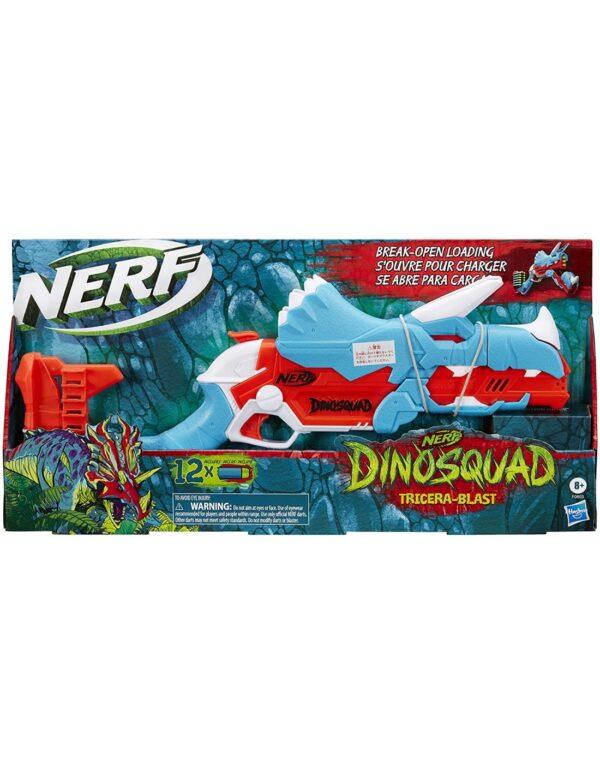 Nerf Dinosquad Tricerablast 12 Βελάκια Nerf F0803 NERF Αγόρι 12 ετών +, 7-12 ετών