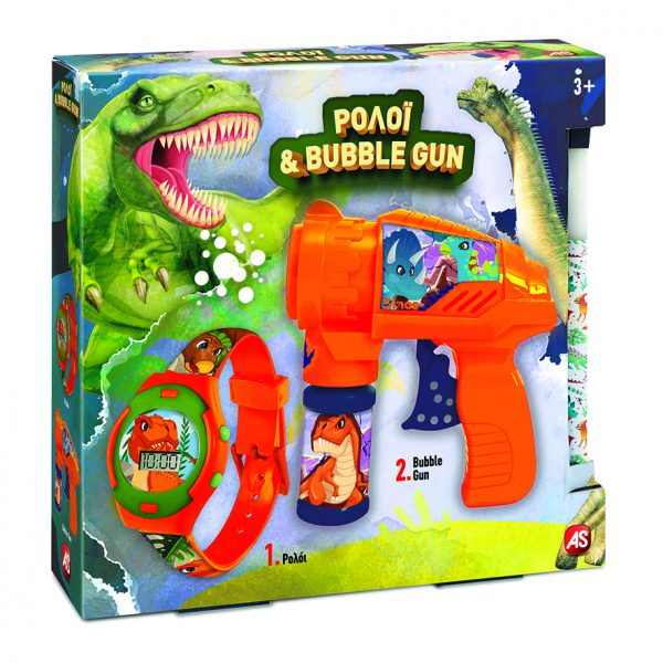 As company Λαμπάδα Ρολόι Και Bubble Gun Δεινόσαυρος 1500-15731  Αγόρι 3-4 ετών, 4-5 ετών, 5-7 ετών AS Company Games
