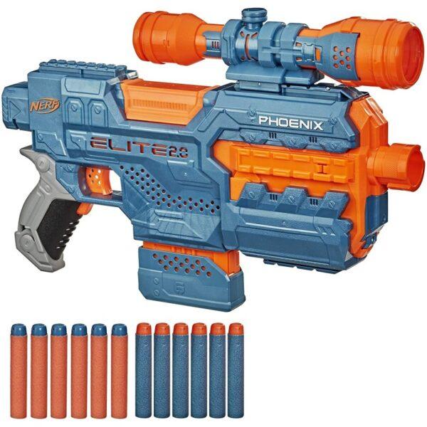Nerf Elite 2.0 Phoenix Cs-6 Με 12 Βελάκια, 6-Βελάκια E9961 NERF Αγόρι 12 ετών +, 7-12 ετών