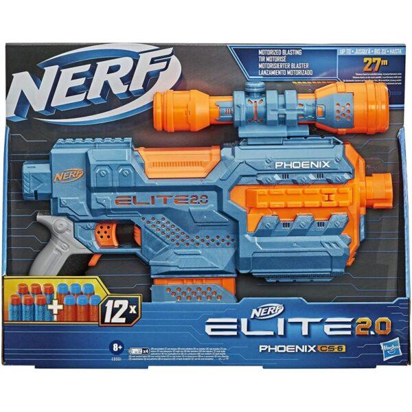 Nerf Elite 2.0 Phoenix Cs-6 Με 12 Βελάκια, 6-Βελάκια E9961  Αγόρι 12 ετών +, 7-12 ετών NERF
