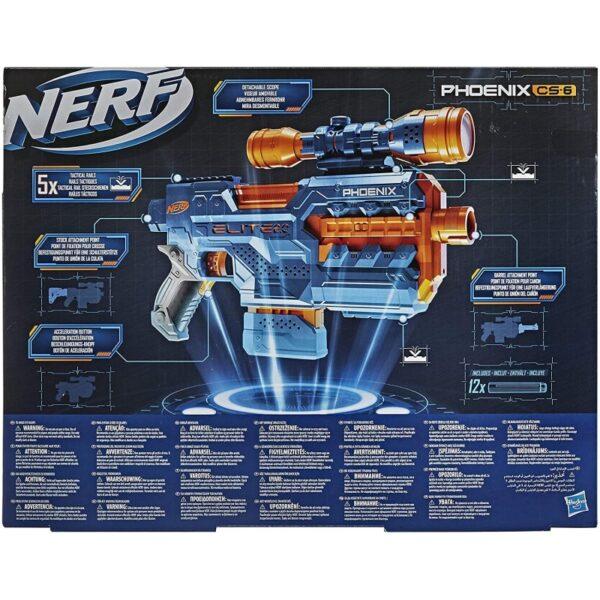 NERF Αγόρι 12 ετών +, 7-12 ετών Nerf Elite 2.0 Phoenix Cs-6 Με 12 Βελάκια, 6-Βελάκια E9961