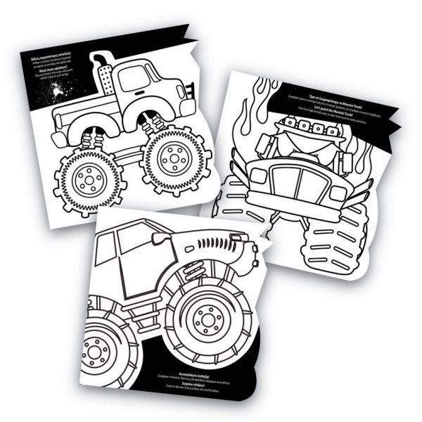 Art Greco Σετ Ζωγραφικής art book dinosaurs & monster trucks Σχέδια 1023-69002 3-4 ετών, 4-5 ετών Αγόρι Art Greco