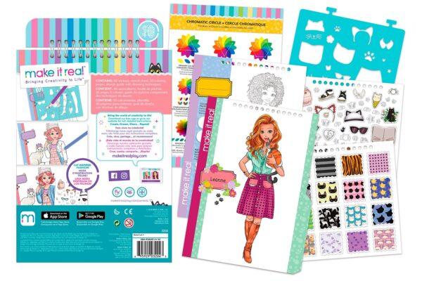 Make it Real  Make it Real Fashion Design Sketchbook 3204 Κορίτσι 3-4 ετών, 4-5 ετών, 5-7 ετών