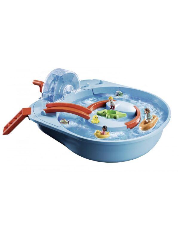 Playmobil, Playmobil 1.2.3 Αγόρι, Κορίτσι 12-24 μηνών, 2-3 ετών, 3-4 ετών Playmobil 1.2.3 Αcqua Μεγάλο Aqua Park Με Νερόμυλο 70267