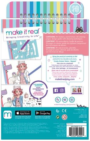 Make it Real Κορίτσι 3-4 ετών, 4-5 ετών, 5-7 ετών Make it Real Fashion Design Sketchbook 3204