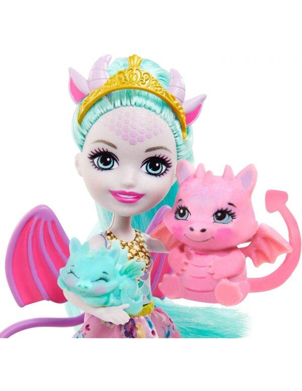 Enchantimals Enchantimals Κορίτσι 4-5 ετών, 5-7 ετών Enchantimals Royals - Κούκλα Και Οικογένεια Δράκοι GYJ09