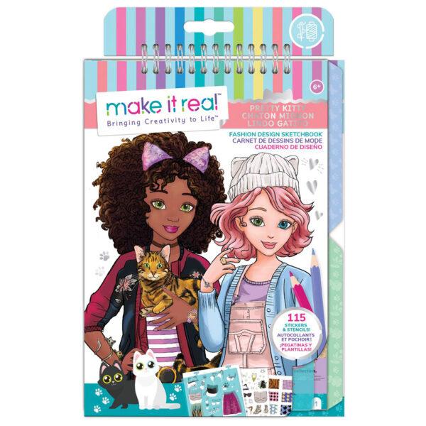 Make it Real Fashion Design Sketchbook 3204 Make it Real Κορίτσι 3-4 ετών, 4-5 ετών, 5-7 ετών
