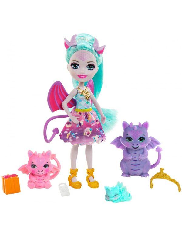 Enchantimals Royals - Κούκλα Και Οικογένεια Δράκοι GYJ09 Enchantimals Κορίτσι 4-5 ετών, 5-7 ετών Enchantimals
