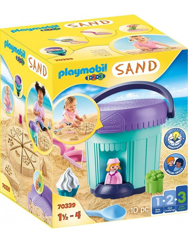 Playmobil 1.2.3. Sand Κουβαδάκι - Ζαχαροπλαστείο 70339 Playmobil, Playmobil 1.2.3 Κορίτσι 12-24 μηνών, 2-3 ετών, 3-4 ετών