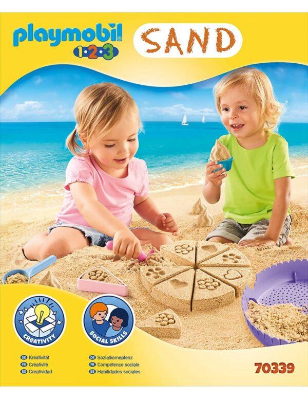 Playmobil 1.2.3. Sand Κουβαδάκι - Ζαχαροπλαστείο 70339  Κορίτσι 12-24 μηνών, 2-3 ετών, 3-4 ετών Playmobil, Playmobil 1.2.3