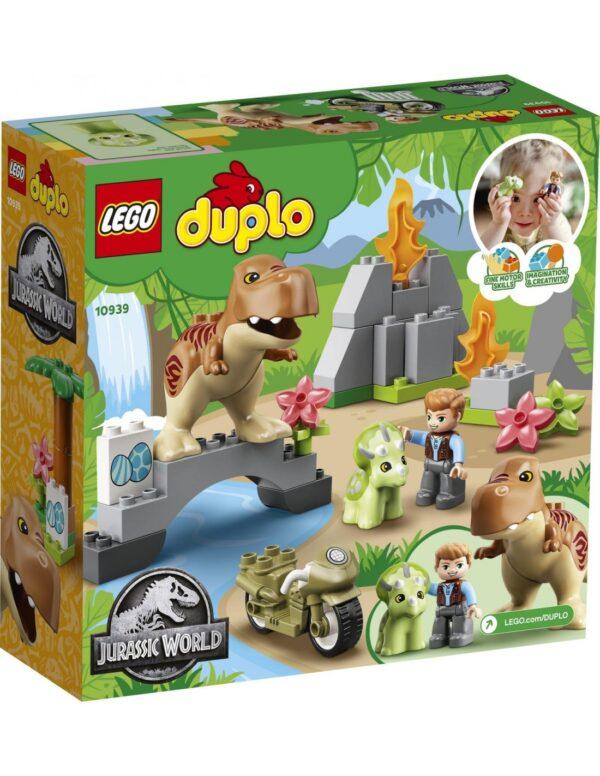 LEGO, Lego Duplo  Lego DUPLO Jurassic World Απόδραση Δεινοσαύρων T. rex και Τρικεράτοπα  10939 Αγόρι 2-3 ετών, 3-4 ετών