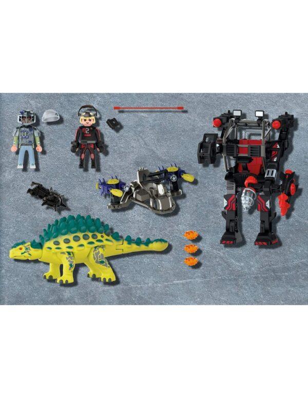 Playmobil Αγκυλόσαυρος με μαχητή εναντίον ρομπότ 70626 Playmobil, Playmobil Dino Rise 4-5 ετών, 5-7 ετών, 7-12 ετών Αγόρι