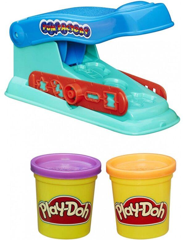 Play-Doh  Play-Doh Basic Fun Factory Πλαστελίνη Πρέσσα Με 2 Βαζάκια B5554 Αγόρι, Κορίτσι 3-4 ετών, 4-5 ετών, 5-7 ετών