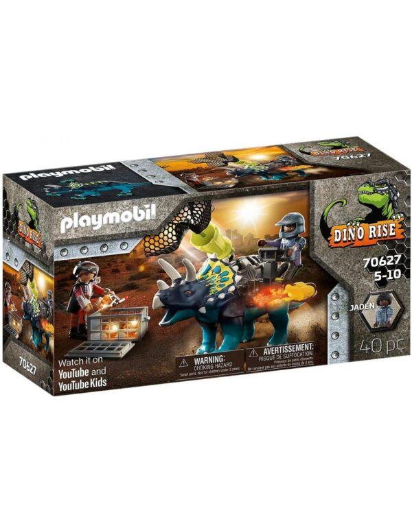 Playmobil Dino Rise Τρικεράτωψ με πανοπλία-κανόνι και μαχητές 70627 Playmobil, Playmobil Dino Rise Αγόρι 4-5 ετών, 5-7 ετών, 7-12 ετών