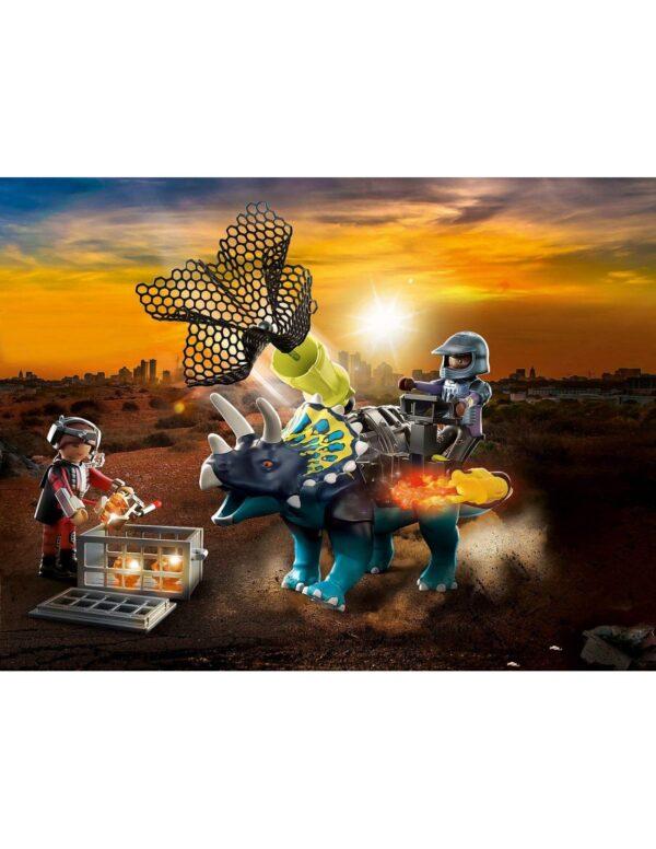Playmobil, Playmobil Dino Rise  Playmobil Dino Rise Τρικεράτωψ με πανοπλία-κανόνι και μαχητές 70627 Αγόρι 4-5 ετών, 5-7 ετών, 7-12 ετών