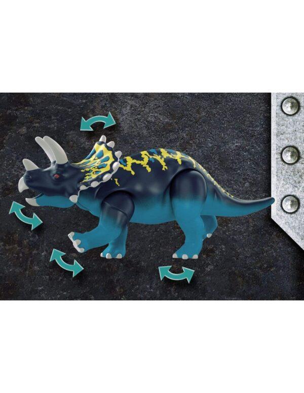 Playmobil Dino Rise Τρικεράτωψ με πανοπλία-κανόνι και μαχητές 70627 Αγόρι 4-5 ετών, 5-7 ετών, 7-12 ετών  Playmobil, Playmobil Dino Rise