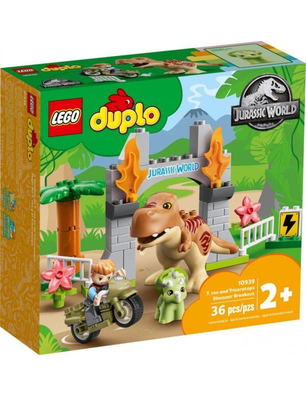 Lego DUPLO Jurassic World Απόδραση Δεινοσαύρων T. rex και Τρικεράτοπα  10939 LEGO, Lego Duplo Αγόρι 2-3 ετών, 3-4 ετών