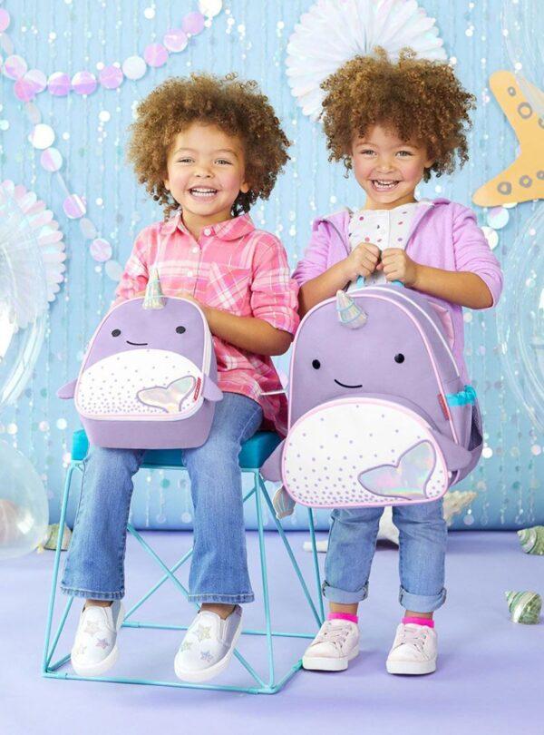 Skip Hop   Skip Hop Zoo Παιδική Τσάντα Πλάτης Φάλαινα Nαρβάλ