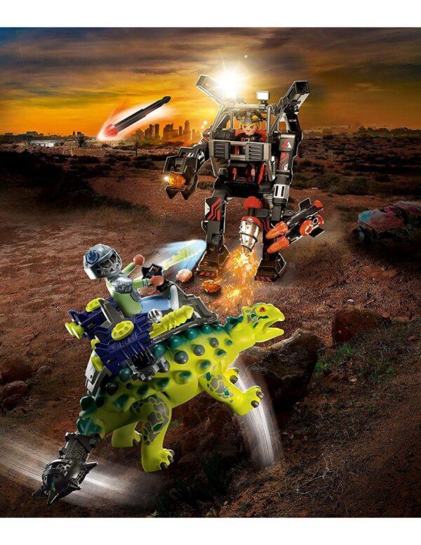Playmobil, Playmobil Dino Rise  Playmobil Αγκυλόσαυρος με μαχητή εναντίον ρομπότ 70626 Αγόρι 4-5 ετών, 5-7 ετών, 7-12 ετών