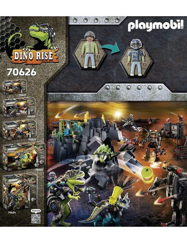 Playmobil, Playmobil Dino Rise Αγόρι 4-5 ετών, 5-7 ετών, 7-12 ετών Playmobil Αγκυλόσαυρος με μαχητή εναντίον ρομπότ 70626