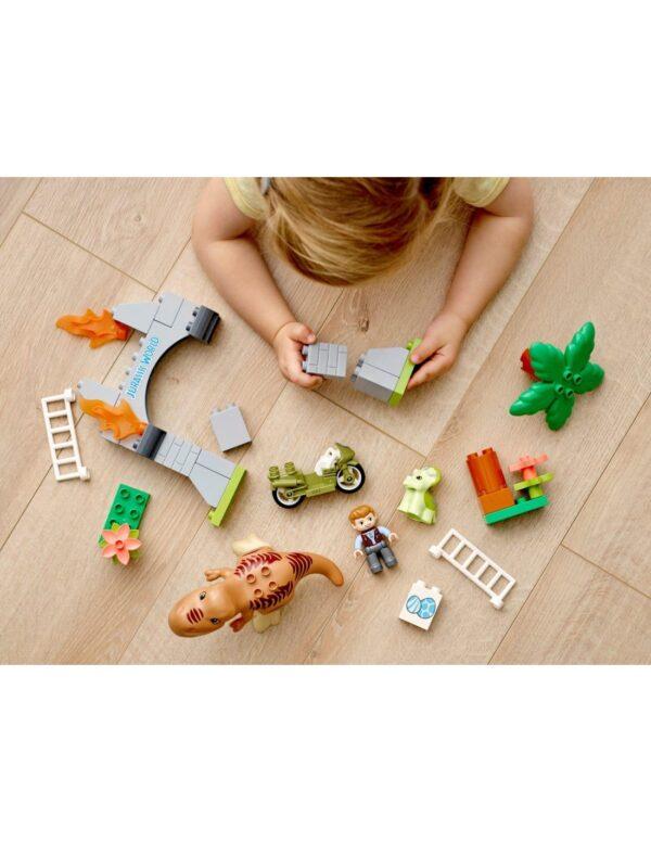 LEGO, Lego Duplo Αγόρι 2-3 ετών, 3-4 ετών Lego DUPLO Jurassic World Απόδραση Δεινοσαύρων T. rex και Τρικεράτοπα  10939