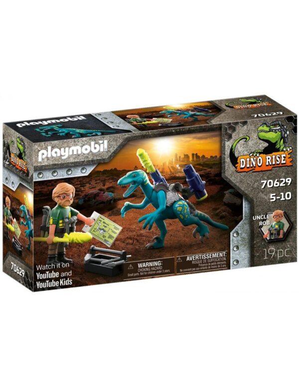Playmobil Dino Rise Δεινόνυχος με τον θείο Rob 70629 Playmobil, Playmobil Dino Rise Αγόρι 4-5 ετών, 5-7 ετών, 7-12 ετών
