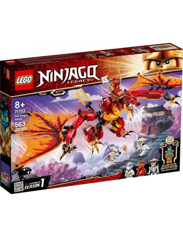 Lego Ninjago Επίθεση του Δράκου της Φωτιάς  71753 LEGO, Lego Ninjago Αγόρι 12 ετών +, 7-12 ετών