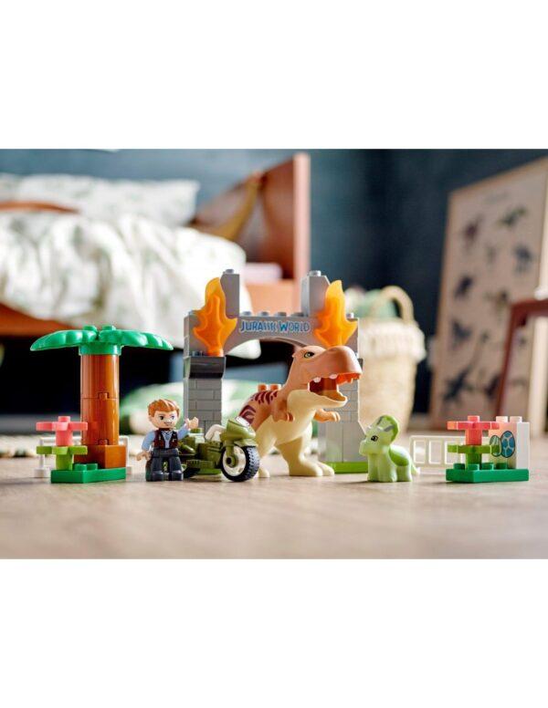 Lego DUPLO Jurassic World Απόδραση Δεινοσαύρων T. rex και Τρικεράτοπα  10939 Αγόρι 2-3 ετών, 3-4 ετών  LEGO, Lego Duplo