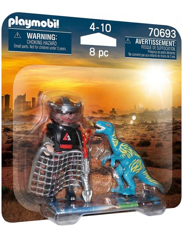 Playmobil Dino Rise Duo Pack Βελοσιράπτορας και κυνηγός δεινοσαύρων 70693 Playmobil, Playmobil Dino Rise Αγόρι 4-5 ετών, 5-7 ετών, 7-12 ετών