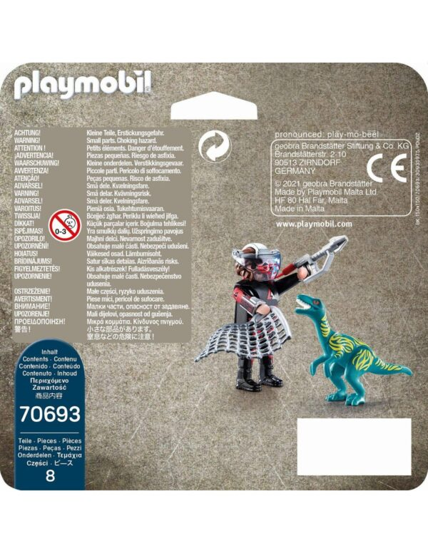 Playmobil, Playmobil Dino Rise  Playmobil Dino Rise Duo Pack Βελοσιράπτορας και κυνηγός δεινοσαύρων 70693 Αγόρι 4-5 ετών, 5-7 ετών, 7-12 ετών