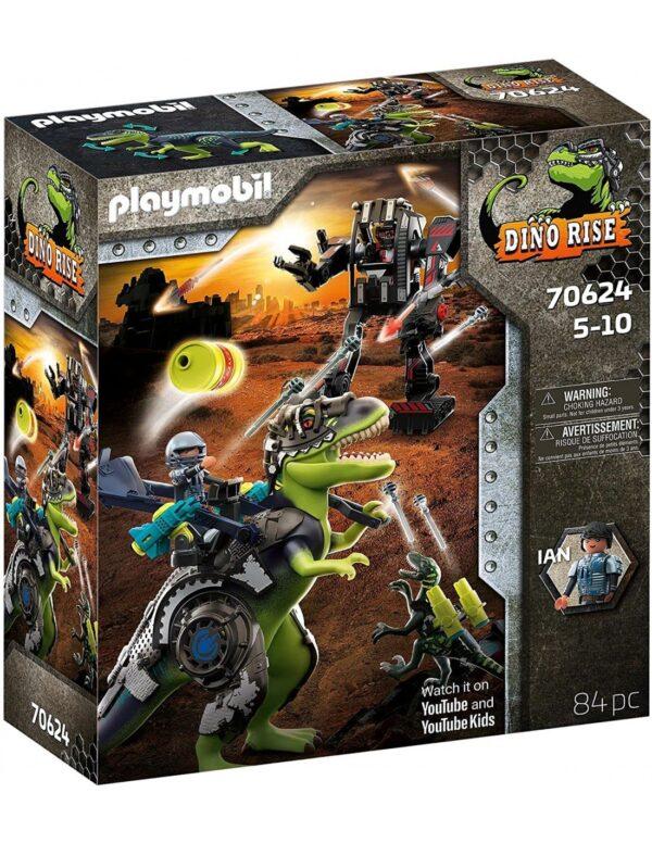 Playmobil Dino Rise T-Rex: Η Μάχη Των Γιγάντων 70624 Playmobil, Playmobil Dino Rise Αγόρι 4-5 ετών, 5-7 ετών, 7-12 ετών