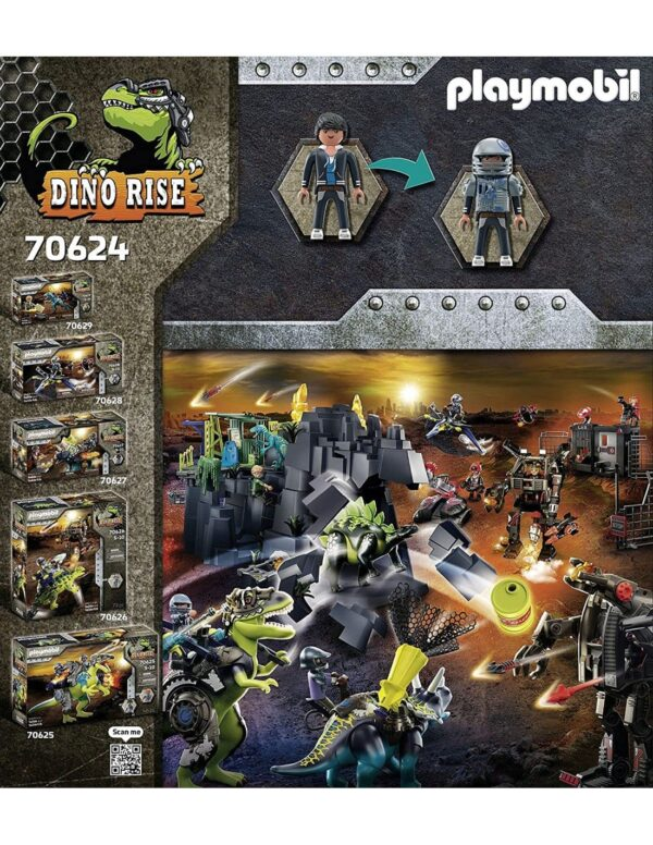 Playmobil, Playmobil Dino Rise Αγόρι 4-5 ετών, 5-7 ετών, 7-12 ετών Playmobil Dino Rise T-Rex: Η Μάχη Των Γιγάντων 70624