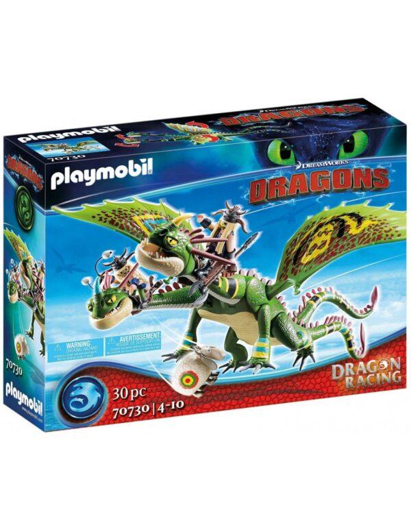 Playmobil Dragons  Πέτρος και Πέτρα με δικέφαλο δράκο ρέψιμο και αναγούλα 70730 Playmobil, Playmobil Dragons Αγόρι 12 ετών +, 4-5 ετών, 5-7 ετών, 7-12 ετών Dragons