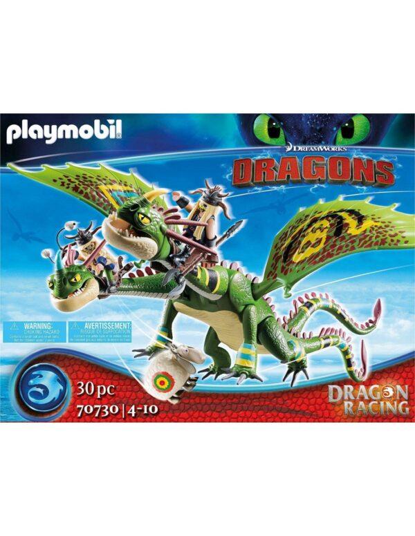 Playmobil Dragons  Πέτρος και Πέτρα με δικέφαλο δράκο ρέψιμο και αναγούλα 70730 Dragons Αγόρι 12 ετών +, 4-5 ετών, 5-7 ετών, 7-12 ετών Playmobil, Playmobil Dragons