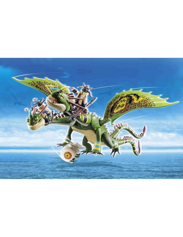Playmobil, Playmobil Dragons Dragons Playmobil Dragons  Πέτρος και Πέτρα με δικέφαλο δράκο ρέψιμο και αναγούλα 70730 Αγόρι 12 ετών +, 4-5 ετών, 5-7 ετών, 7-12 ετών