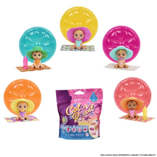 Pets Color Reveal Summer Series 5 Σχέδια GTT12 BARBIE Κορίτσι 3-4 ετών, 4-5 ετών, 5-7 ετών Barbie