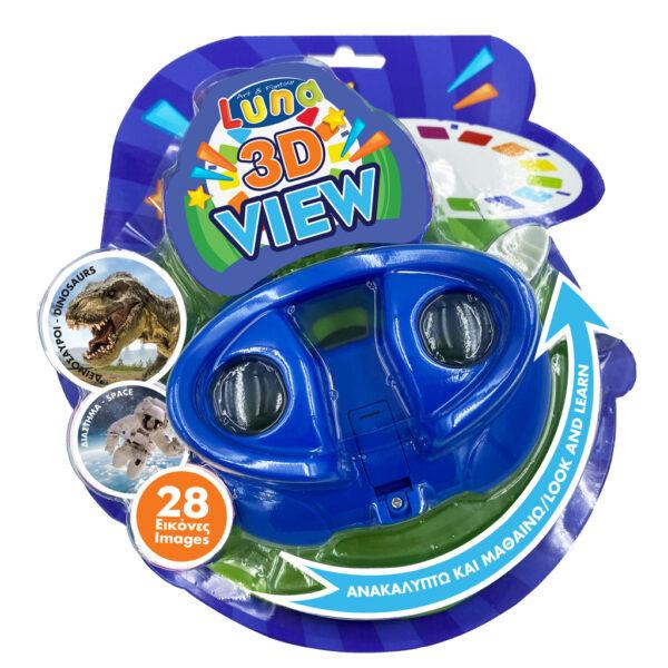 Κάμερα 3D Εικόνων με Δίσκους Δεινόσαυροι - Διάστημα Luna Toys 621744 luna Αγόρι, Κορίτσι 2-3 ετών, 3-4 ετών, 4-5 ετών