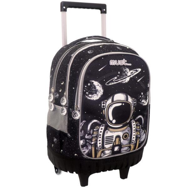 Σχολική Τσάντα Τρόλλεϋ Δημοτικού Must Astronaut με 3 Θήκες 584010 must Αγόρι, Κορίτσι 4-5 ετών, 5-7 ετών, 7-12 ετών